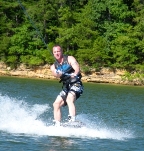 Chad wake boarding
